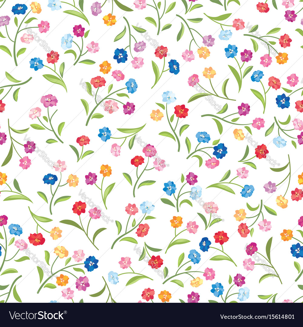 Floral pattern flower seamless background