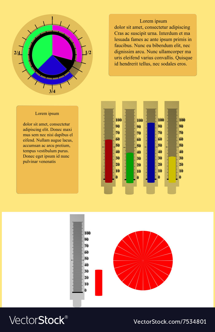 Infographic Pie Chart Graph With Scale Royalty Free Vector