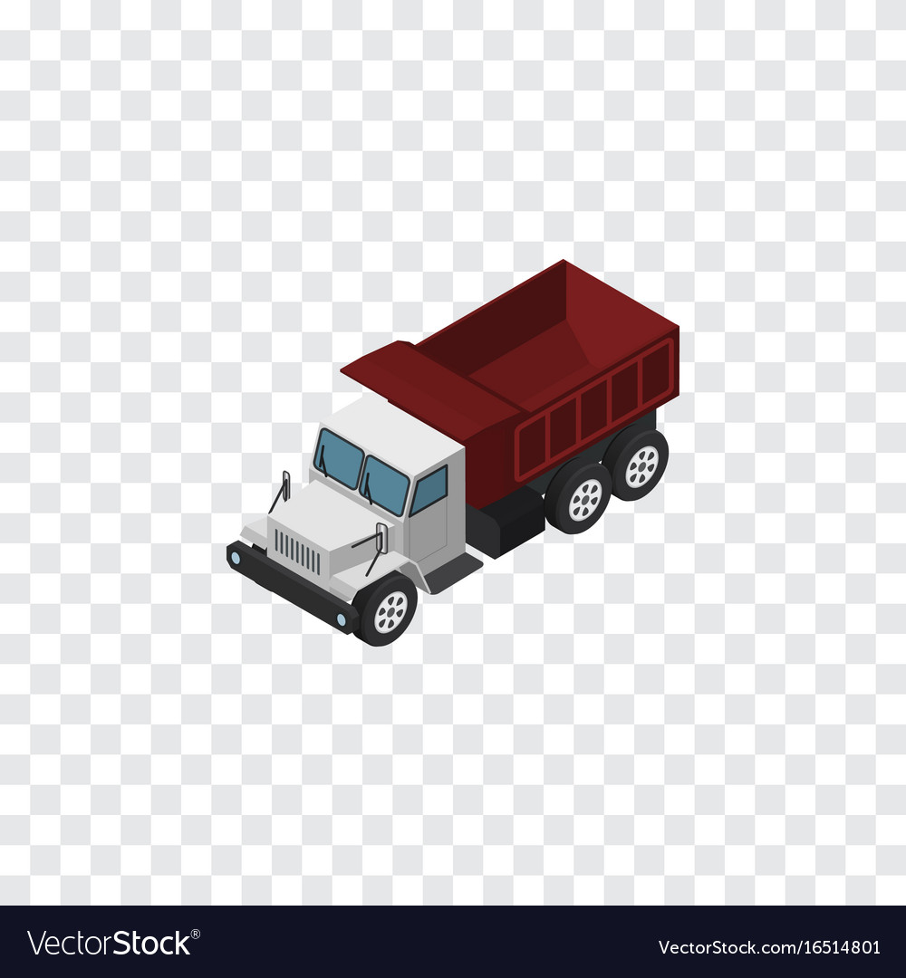 Isolated autotruck isometric freight
