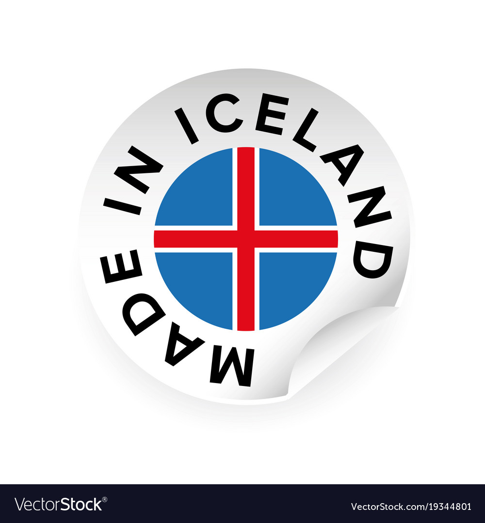 Made in iceland sticker tag