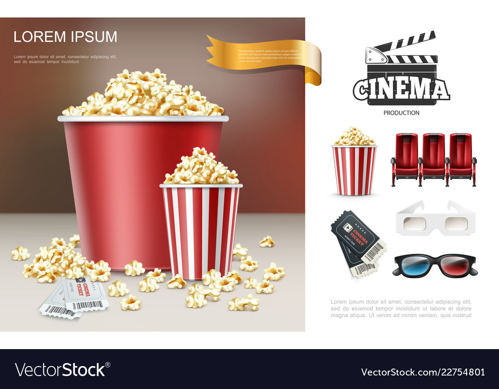 Realistic cinema and movie composition
