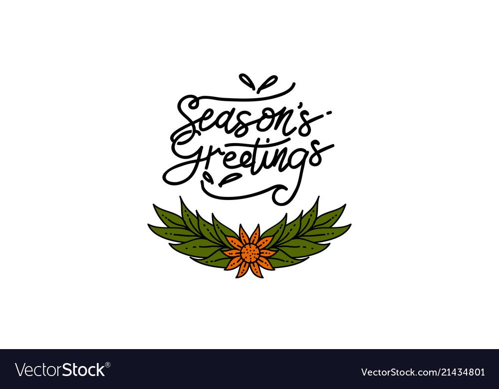 Seasons greetings template