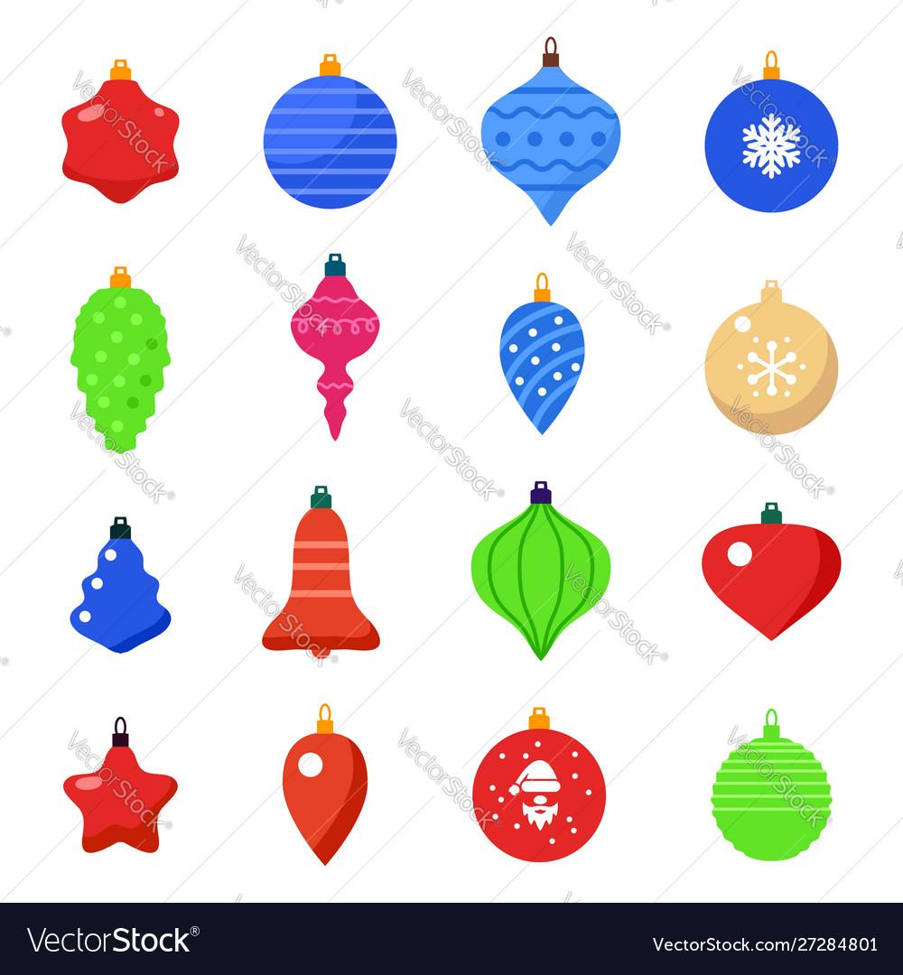 Set christmas ball shapes