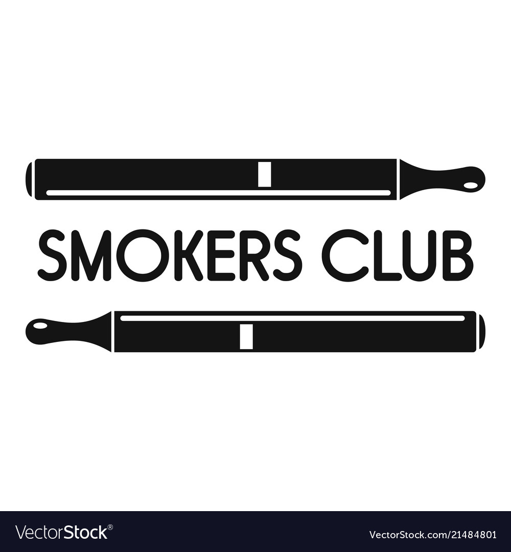 Smokers club logo simple style