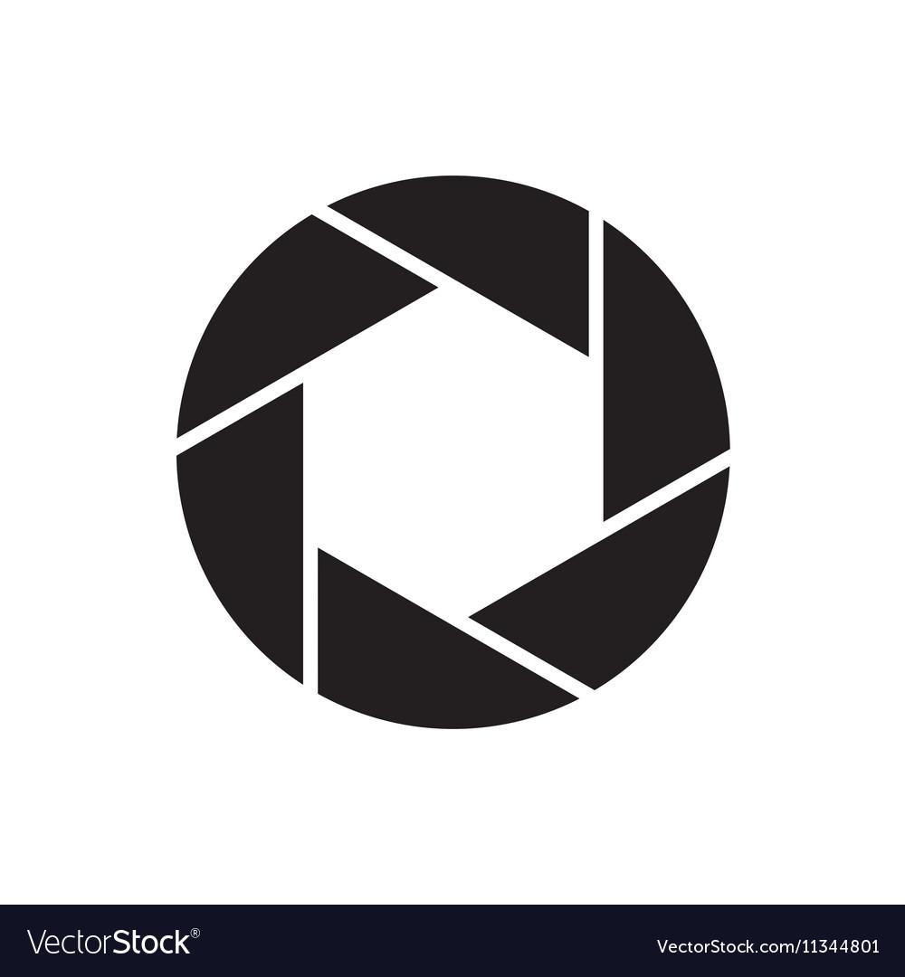 the diaphragm icon aperture symbol flat royalty free vector rh vectorstock com aperture vector art aperture vector logo