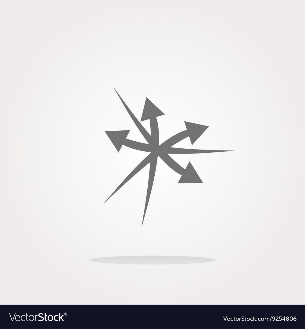Arrow set web icon button isolated on
