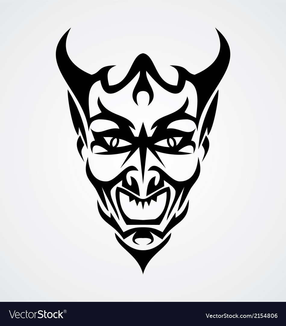 Devil Face vector image