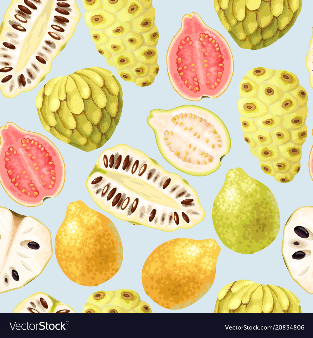 Exotic fruits seamless
