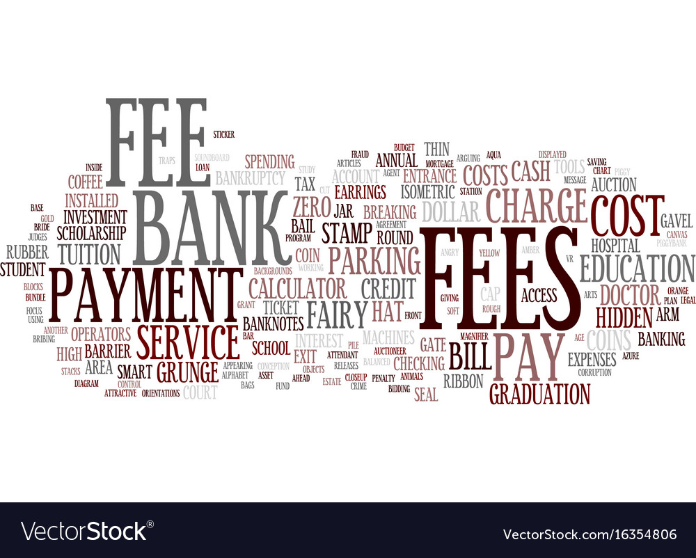 Fees word cloud concept