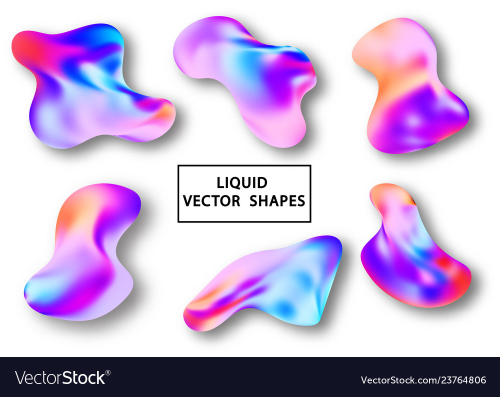 Fluid shape layout isolated template set colorful