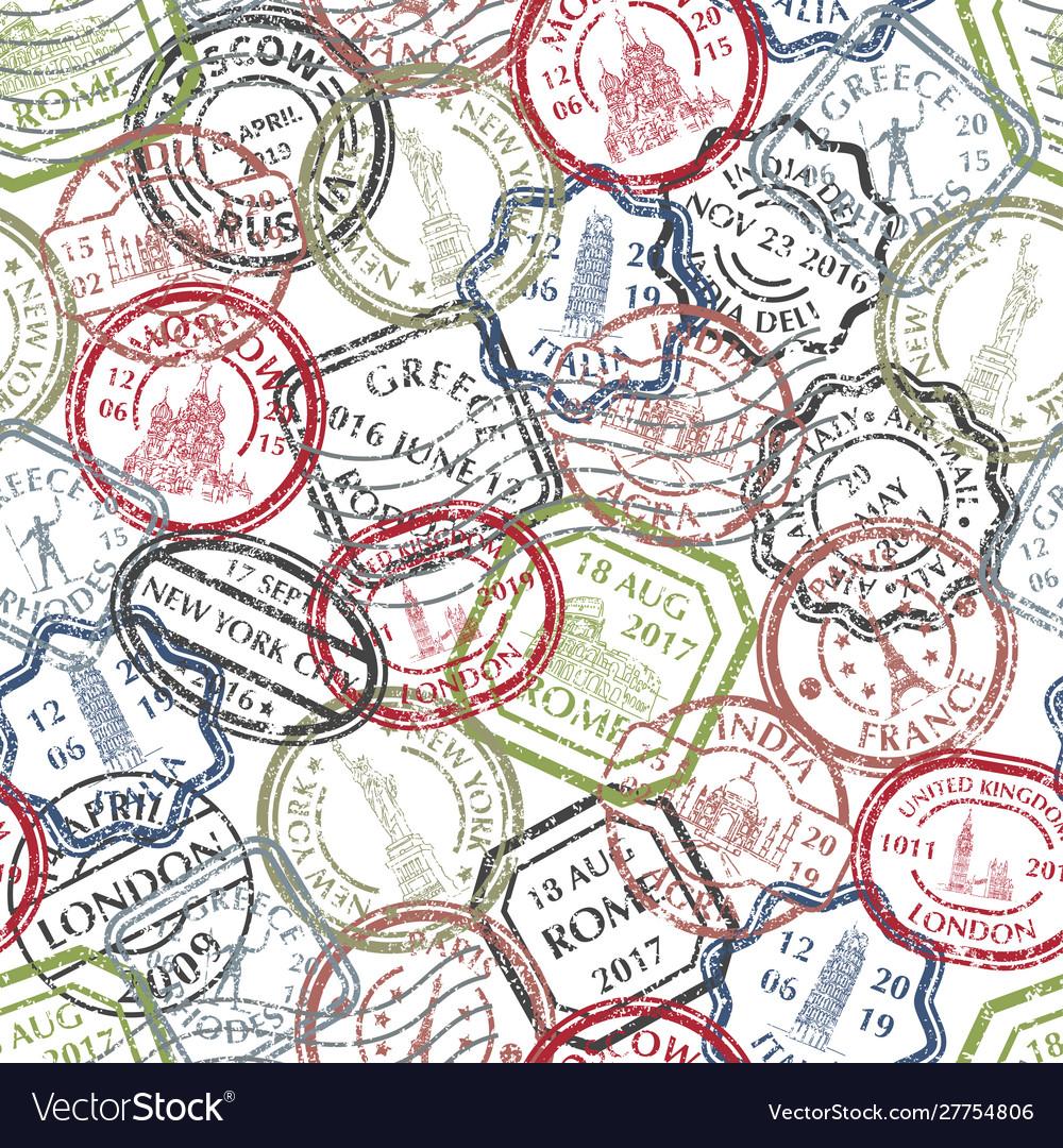 Postal stamps pattern