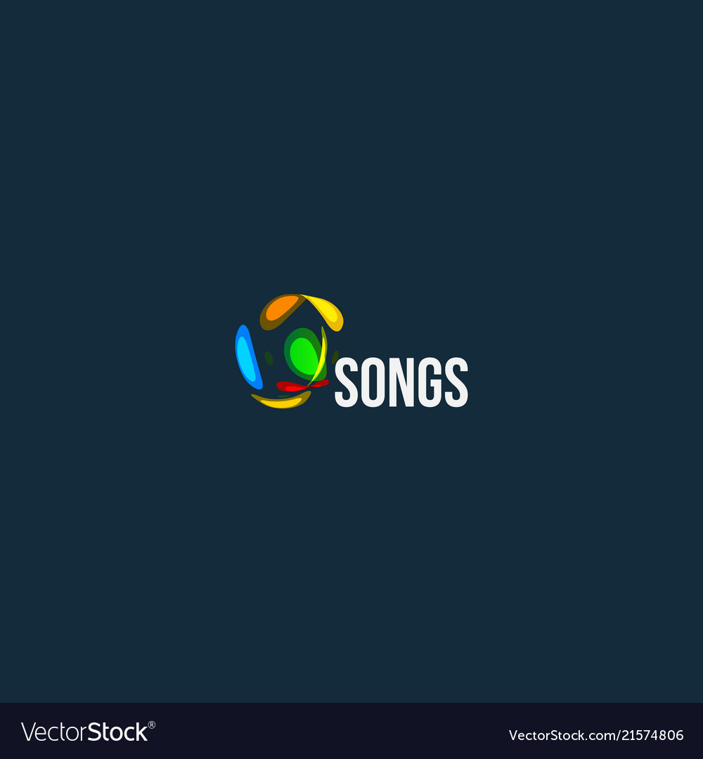 Songs abstract logo audio wave design icon