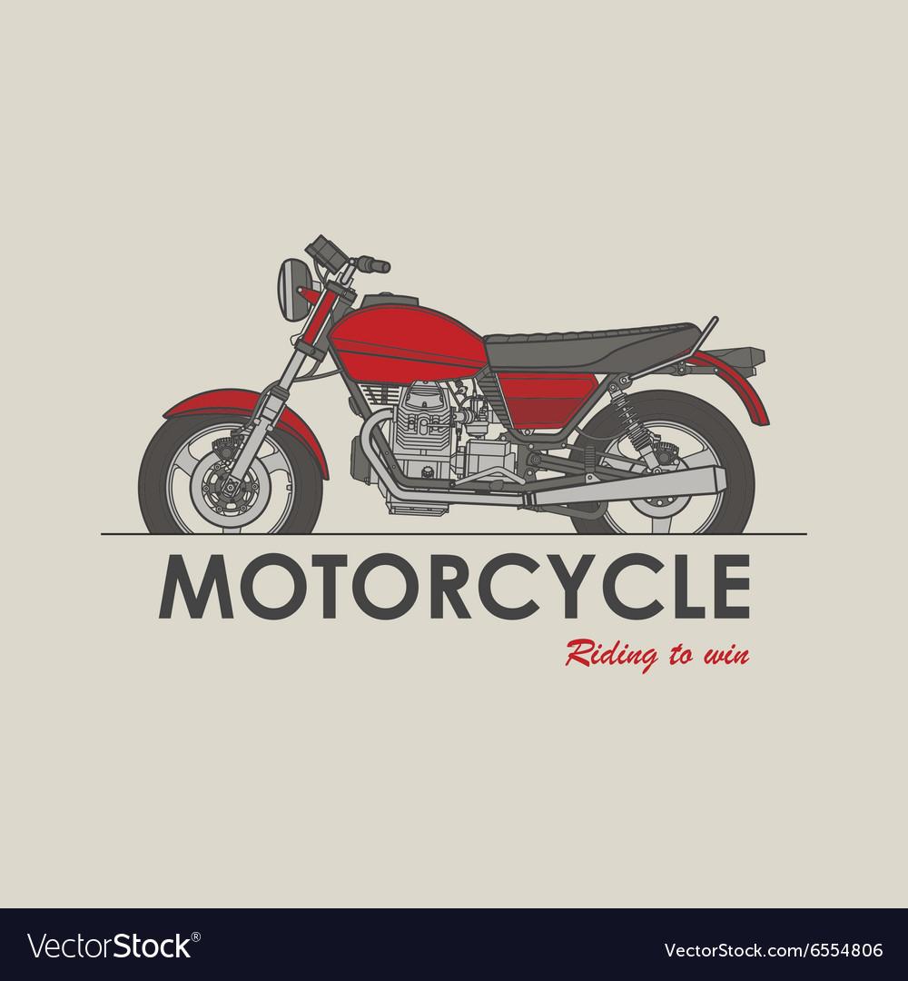Vintage bike logo vector image