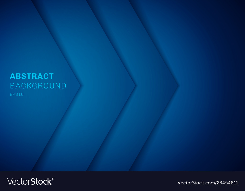 Abstract 3d blue triangle with overlap paper