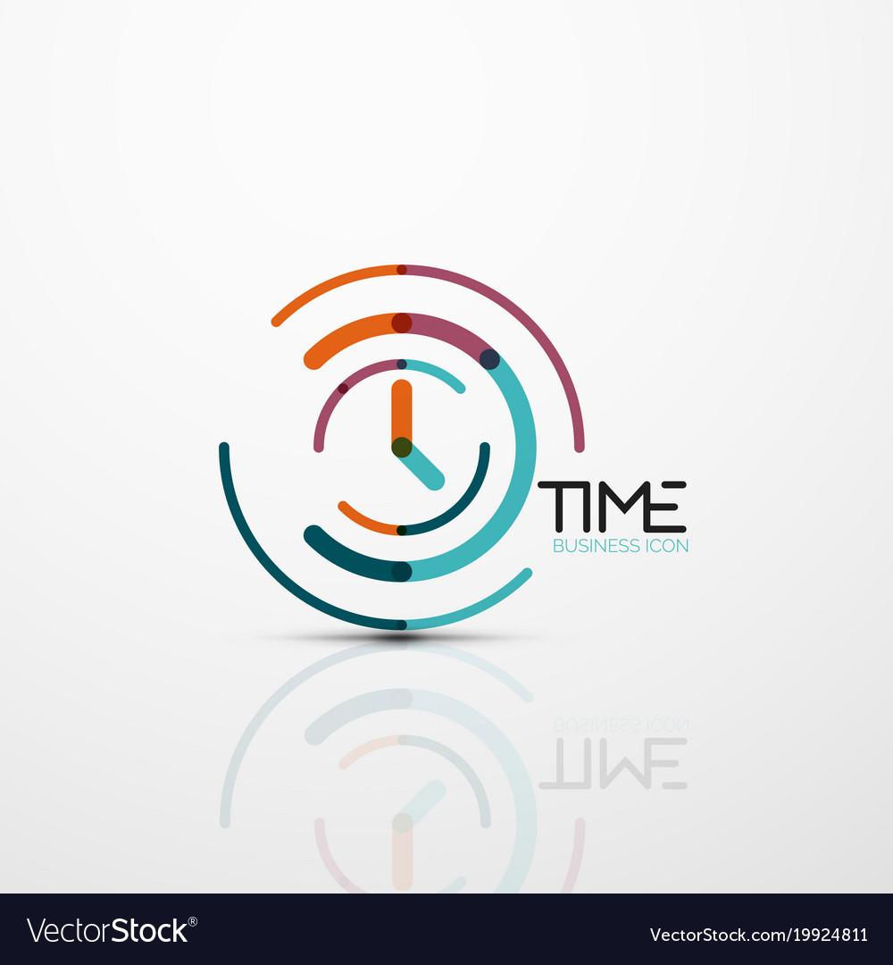 Abstract logo idea time concept or clock