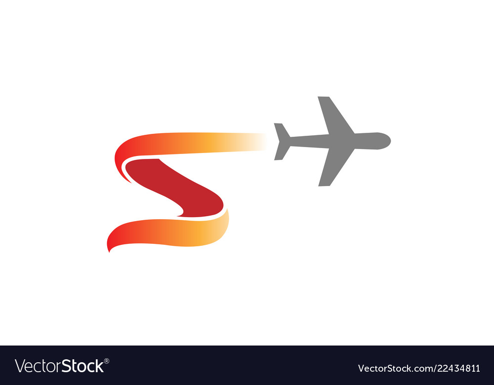 Aircraft fly symbolic creative air logo