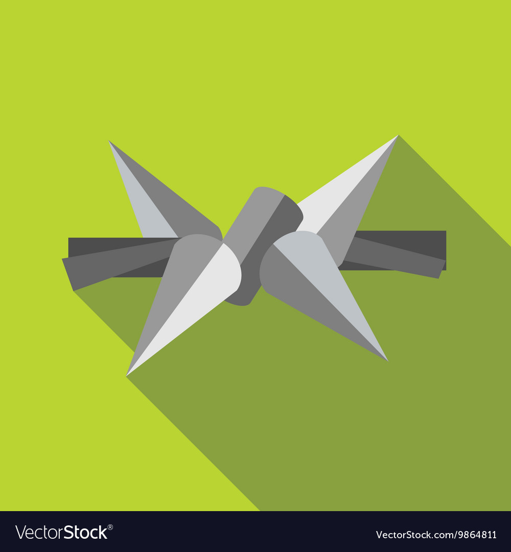 Barbed wire icon in flat style vector image