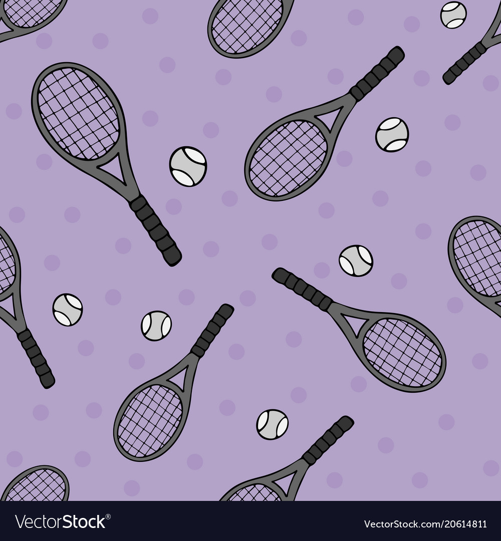 Bright seamless pattern with sports objects