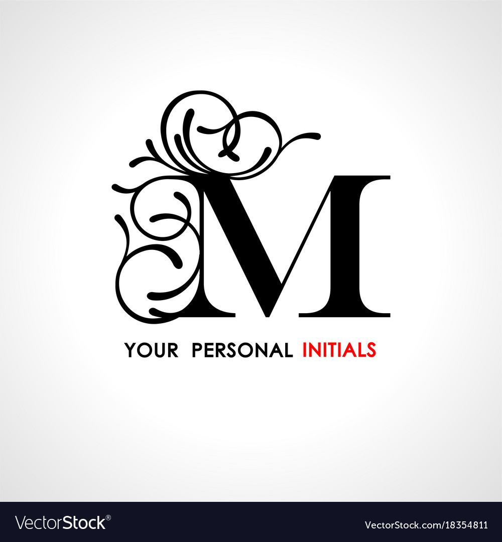 Capital Letter M Decorated With Vegetable Vector Image