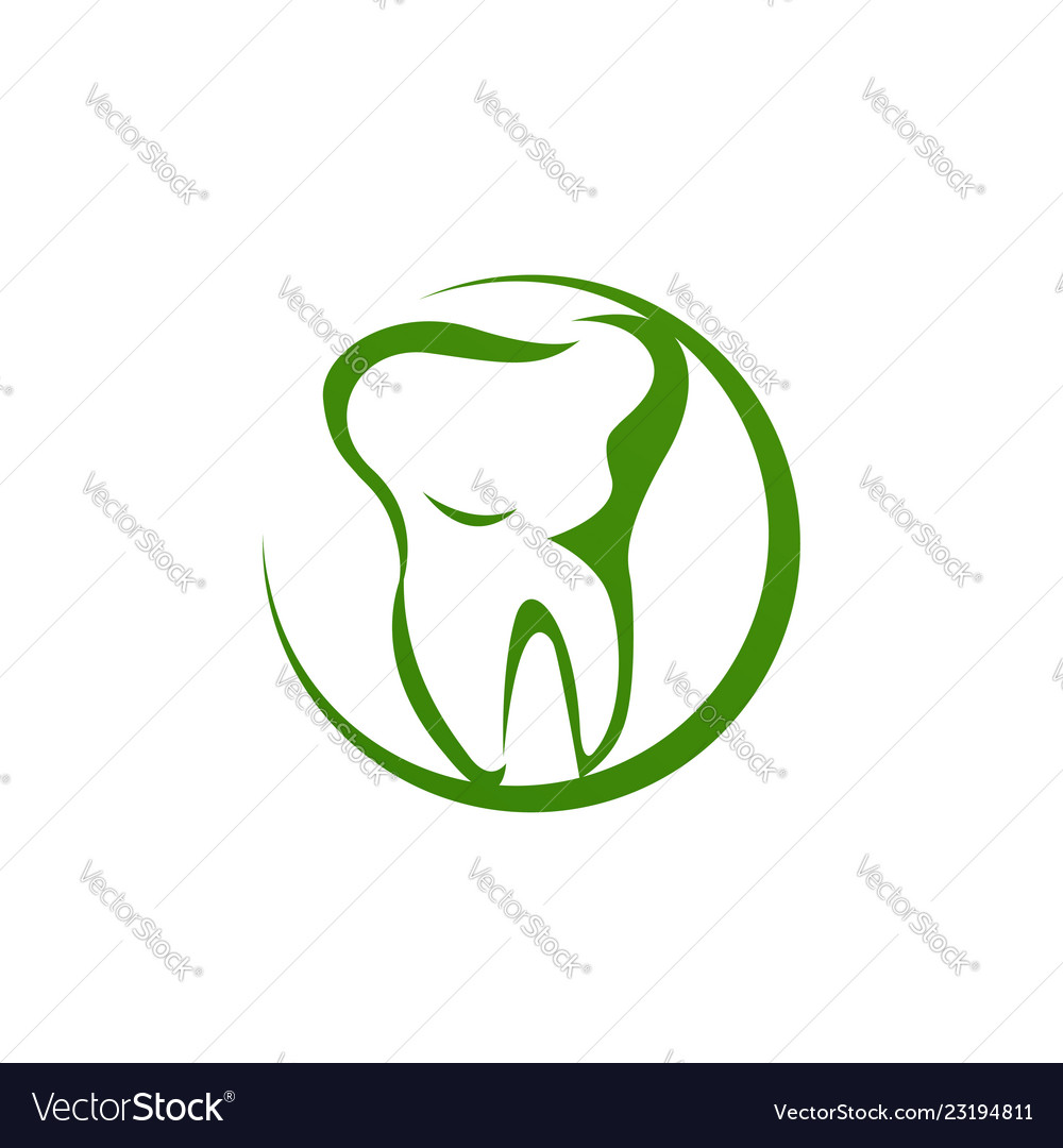 Dental clinic logo unique modern effect clean icon