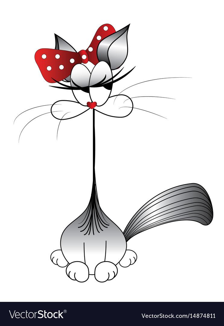 Funny cat cat stylized