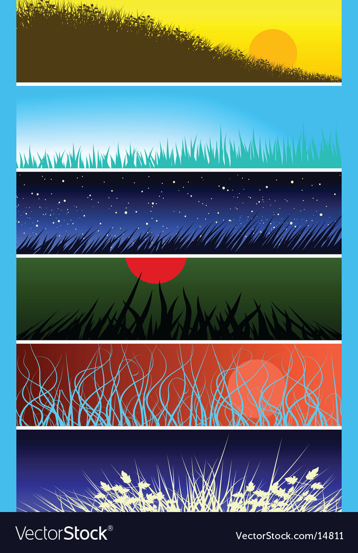 Grassy banners