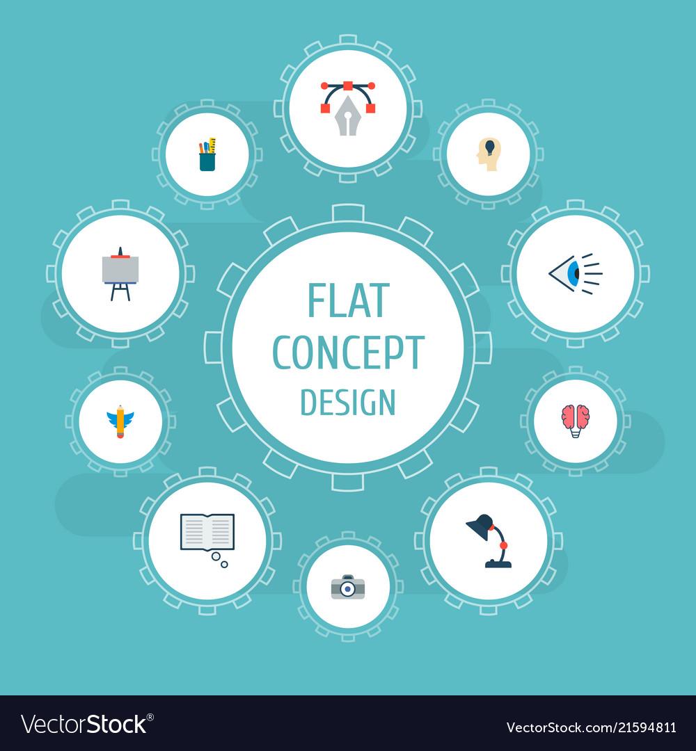 Set of constructive icons flat style symbols with