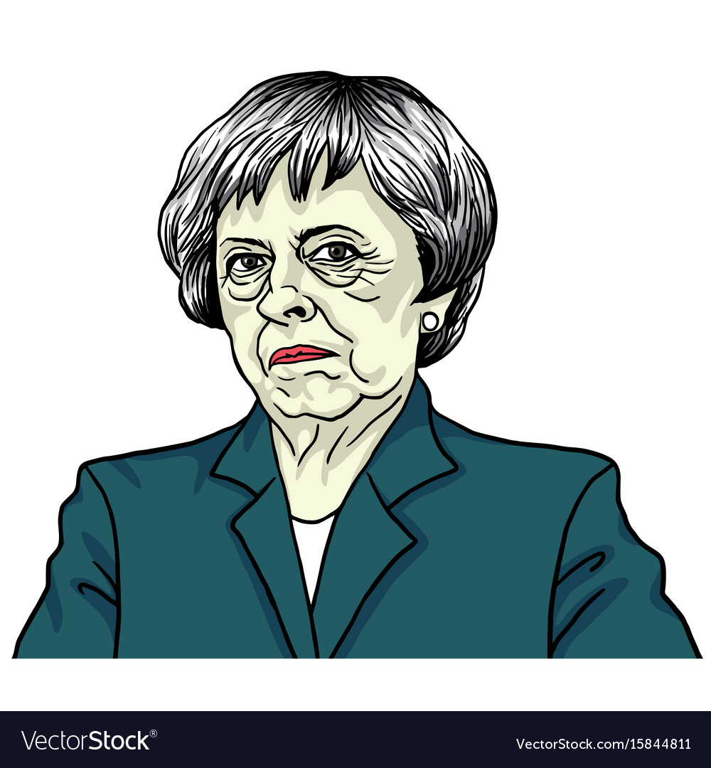 Theresa may the prime minister of the uk vector image