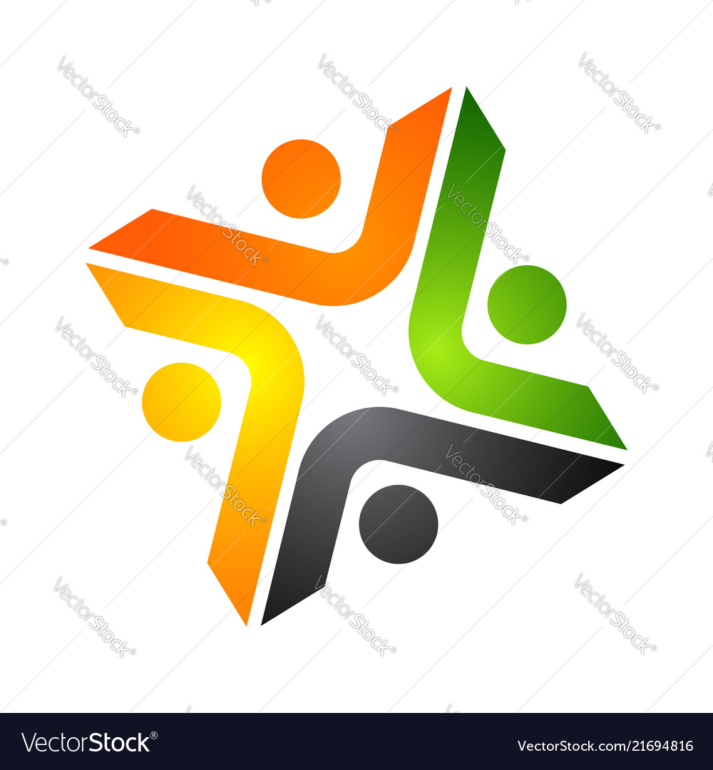 Abstract logo depicting the stylized people who