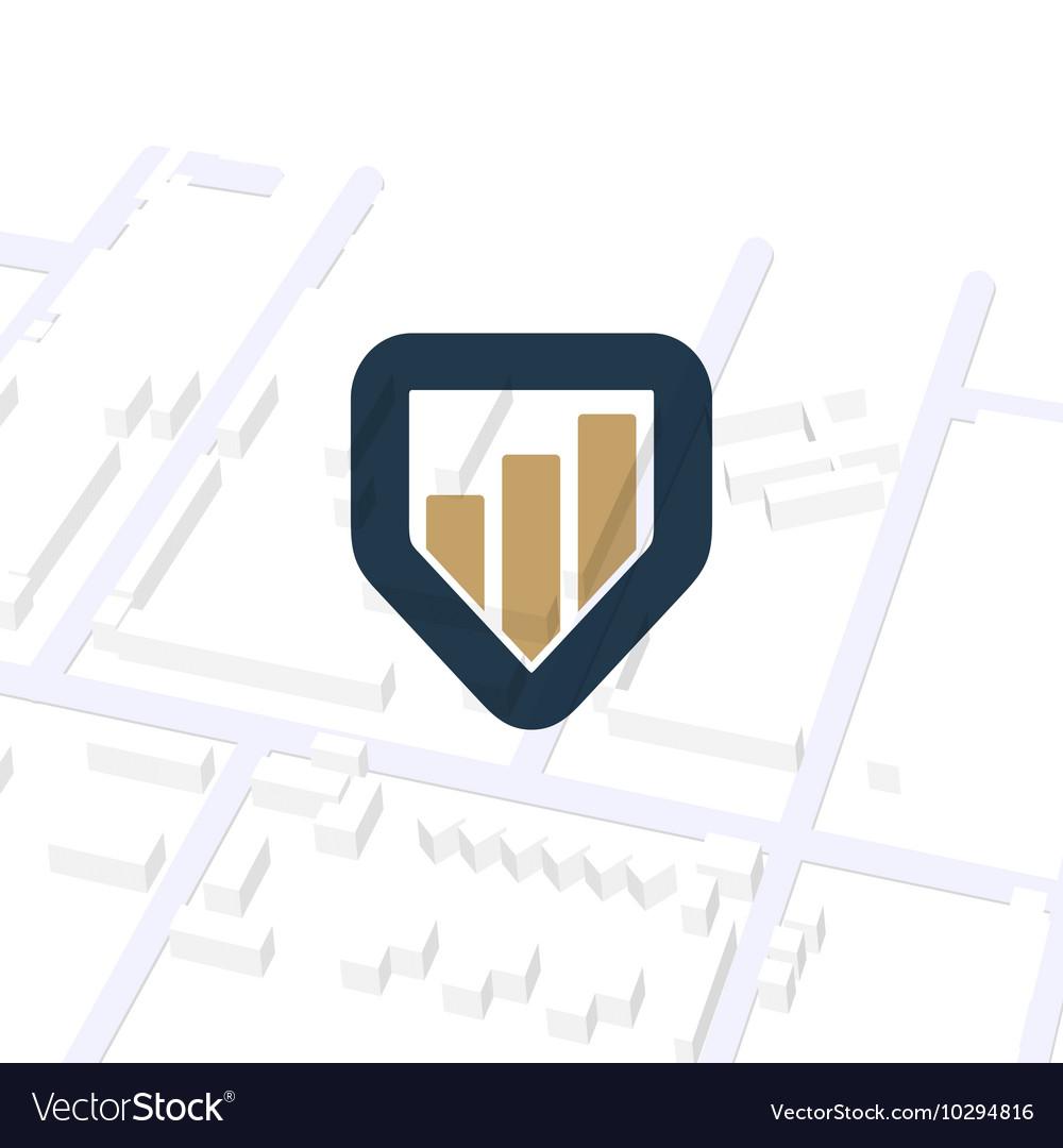 Business navigator unusual logo Pointer