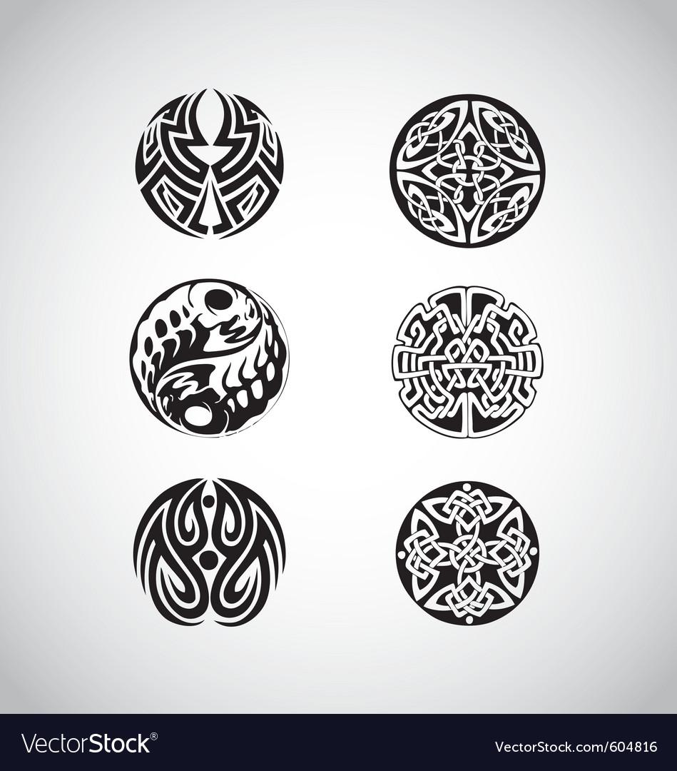Celtic circular designs vector image