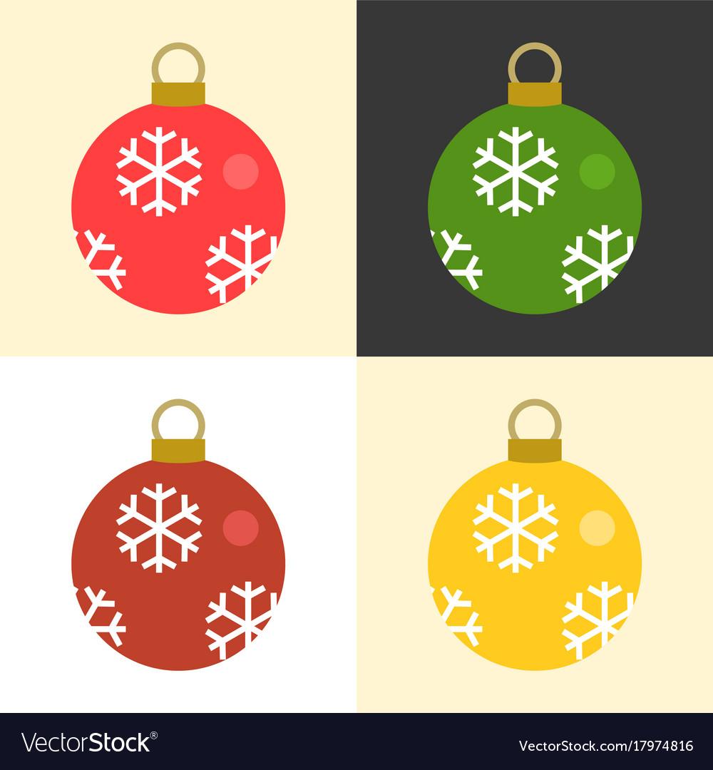 Christmas balls set collection