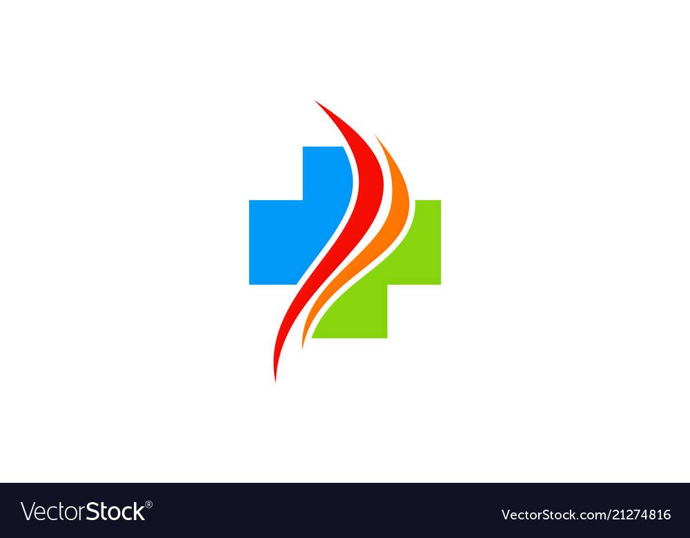 Cross medic hospital logo