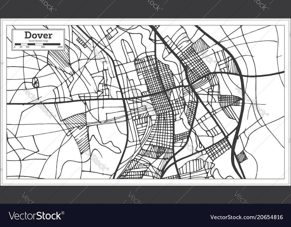 Dover delaware usa city map in retro style