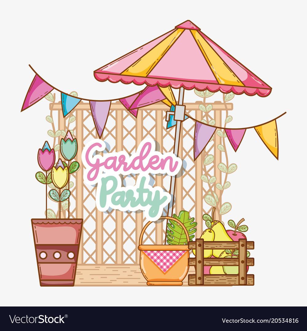 Garden party cartoons