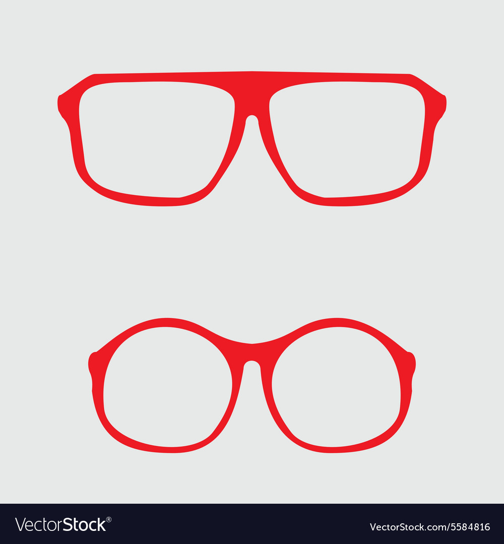 Red nerd glasses with thick holder