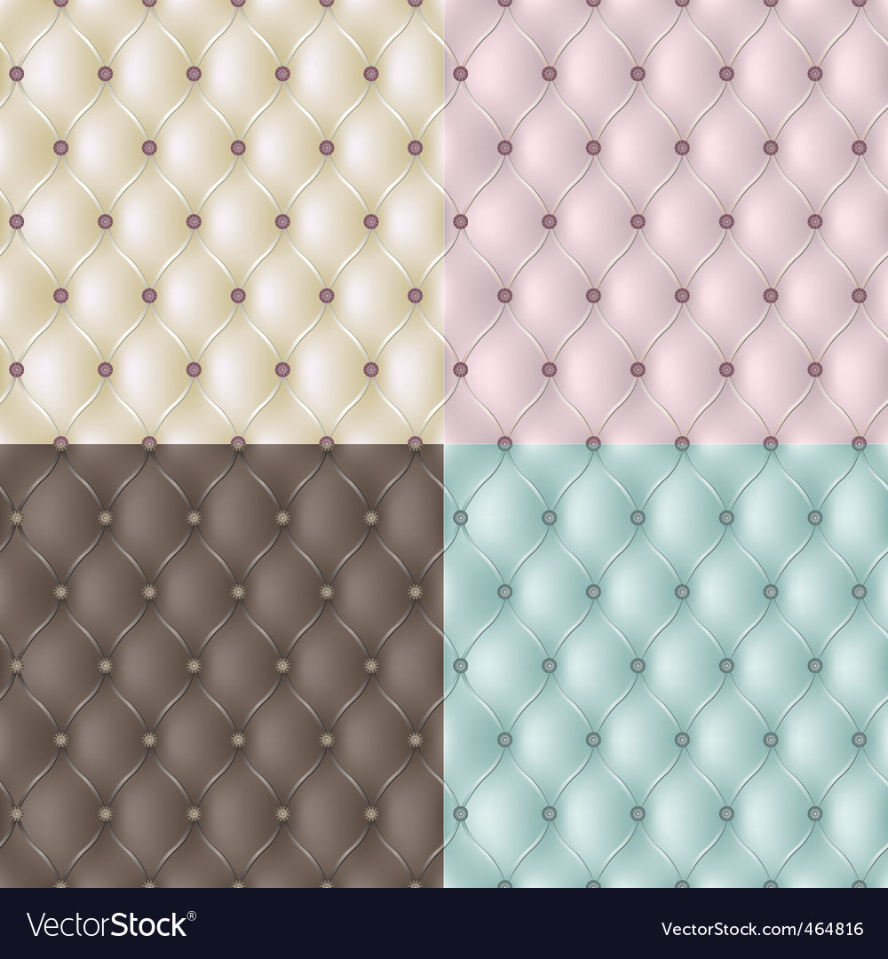 Set genuine leather texture vector vector image