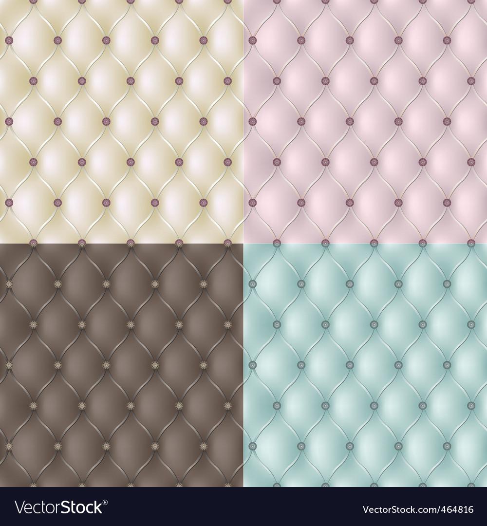 Set genuine leather texture vector