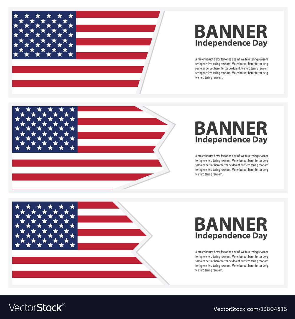United states of american flag banners collection