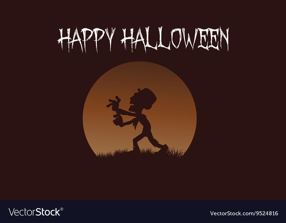 Zombie backgrounds Halloween vector image