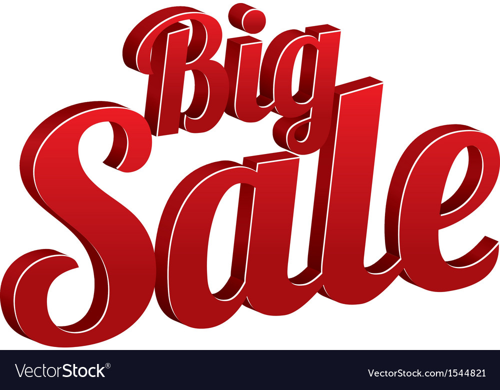Big sale sign isolated icon Royalty Free Vector Image 32e568c9d