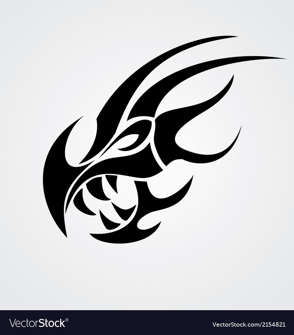 dragon head tribal royalty free vector image vectorstock