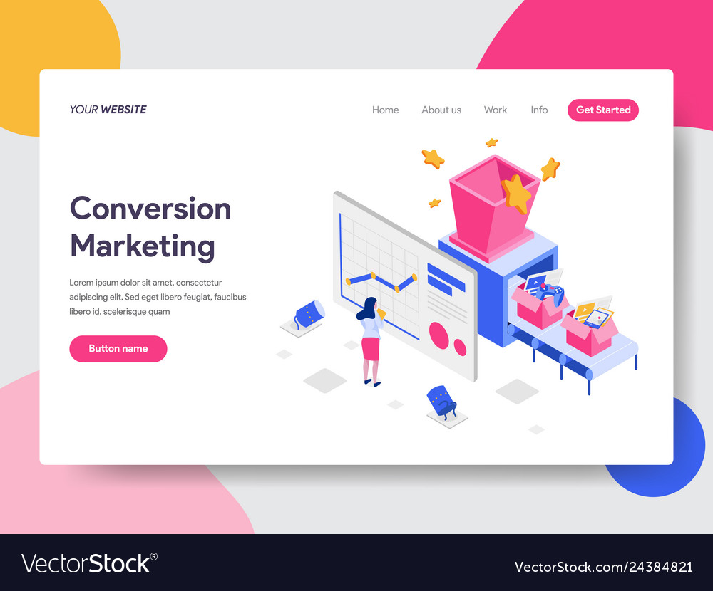Landing page template of conversion marketing