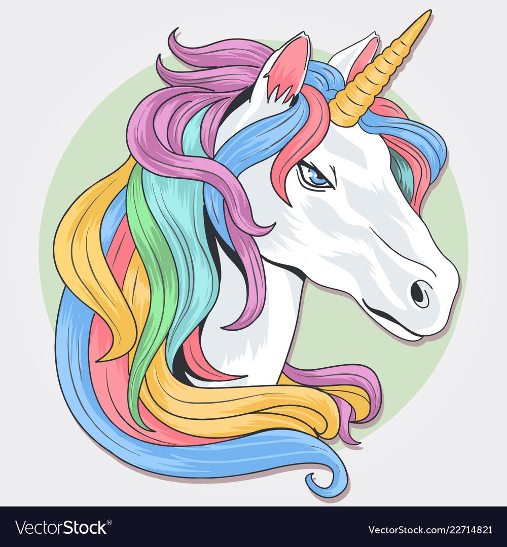 Unicorn full color rainbow