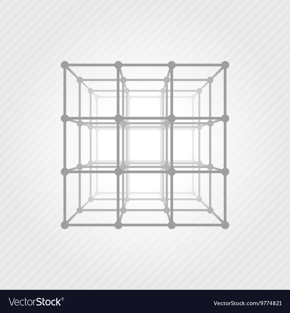 Wireframe mesh square