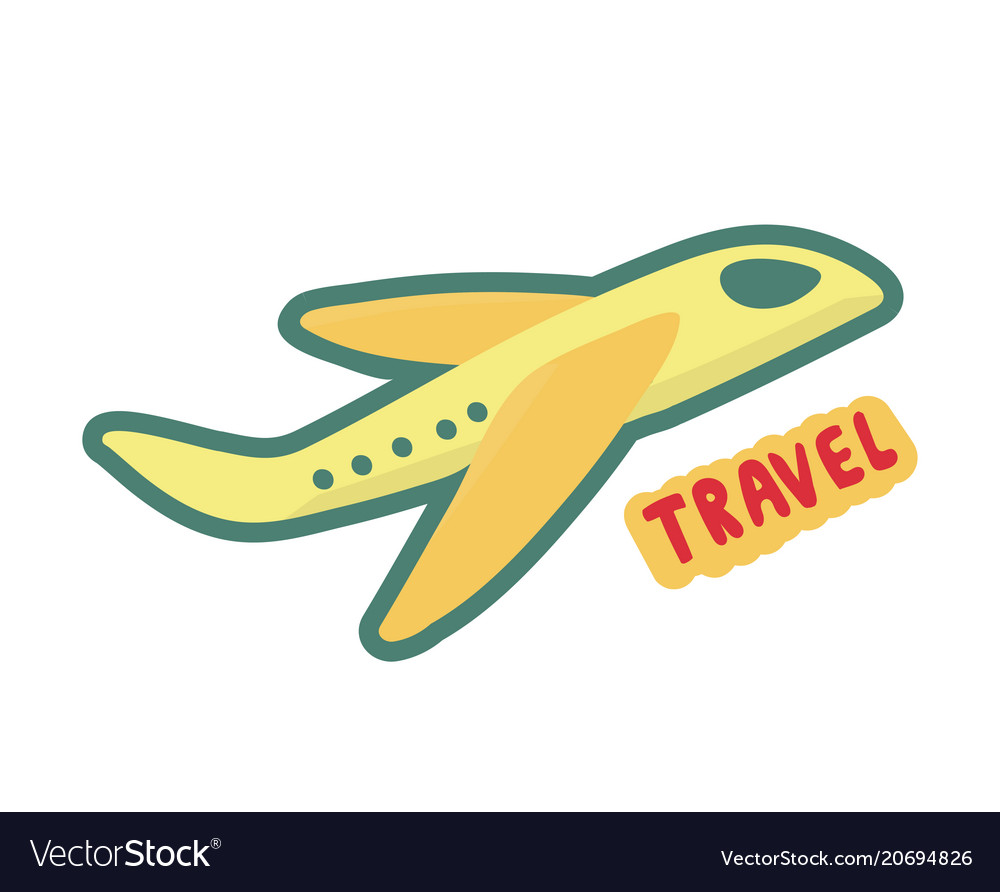 Airplane travel symbol sign of tourism and