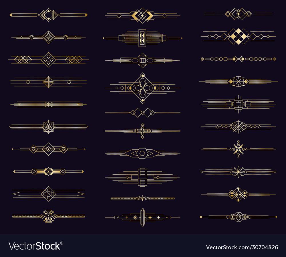 Art deco gold divider modern golden elegant