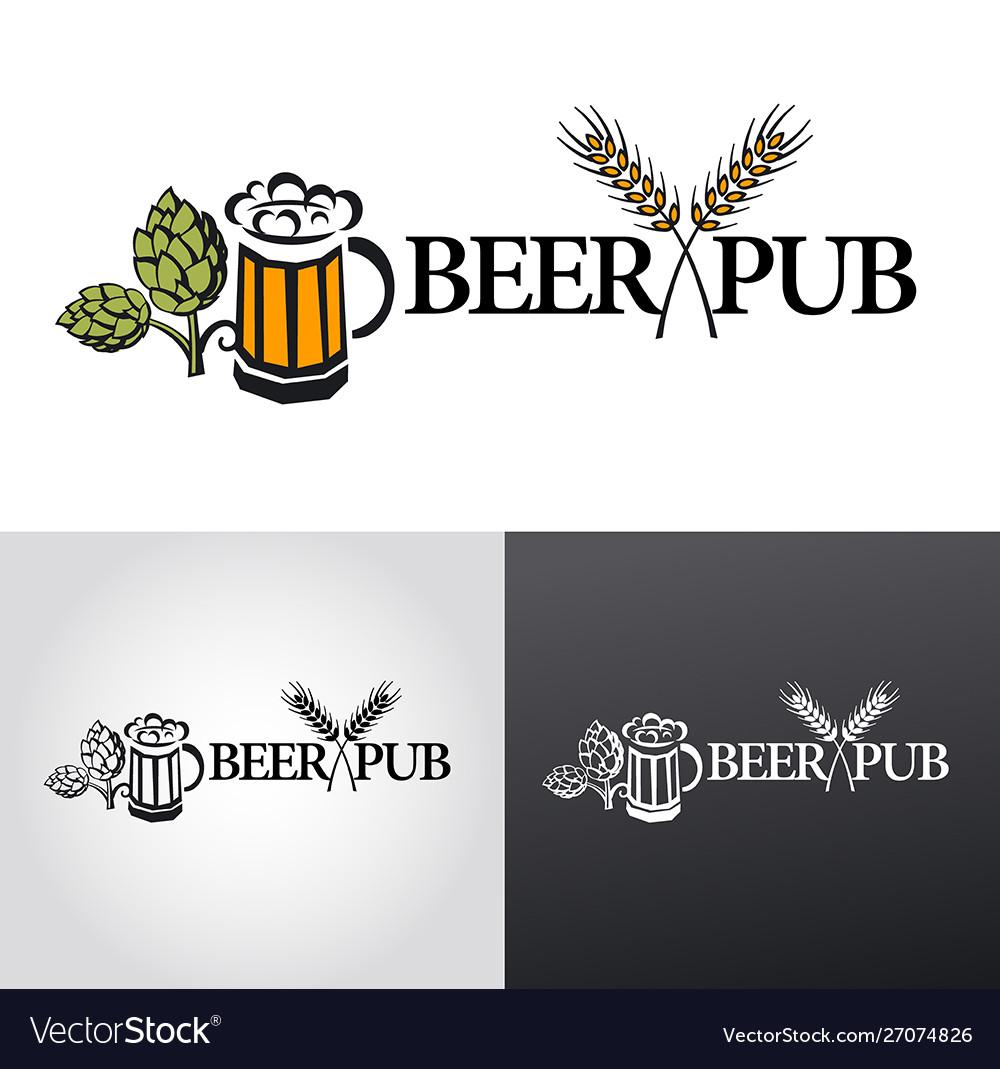 Beer logo sign