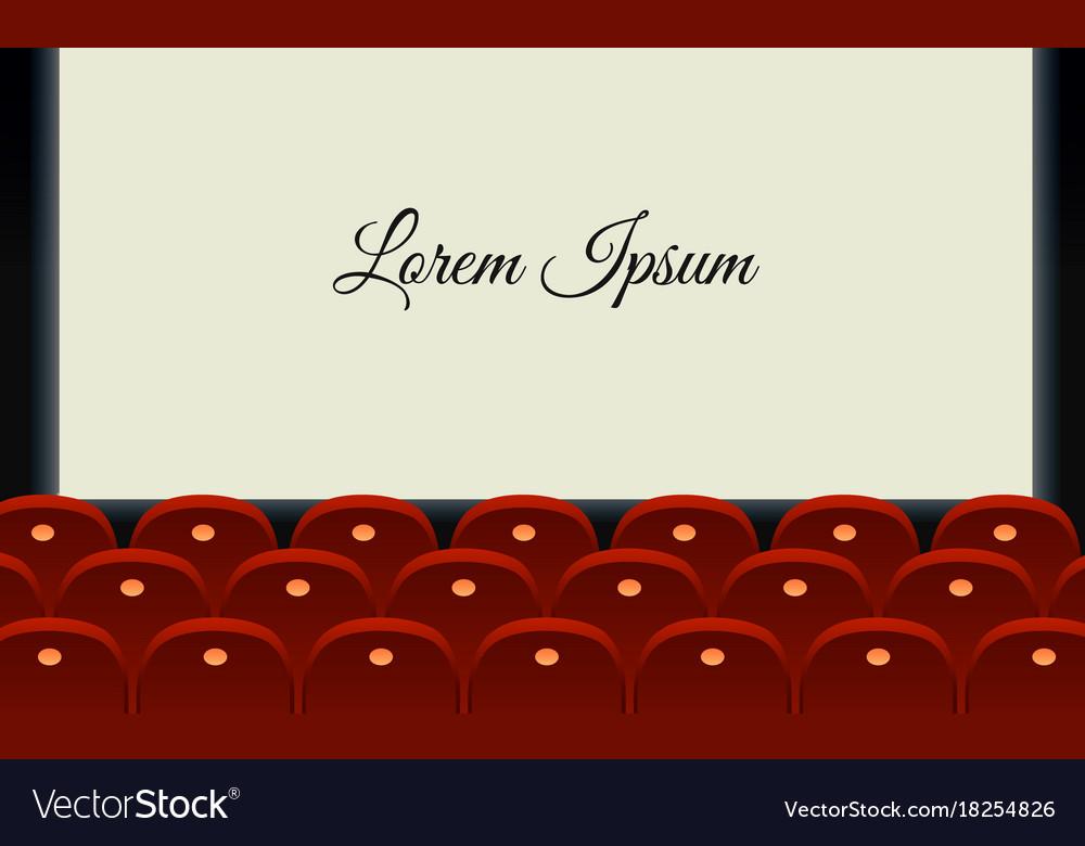 Cinema hall with glowing blank