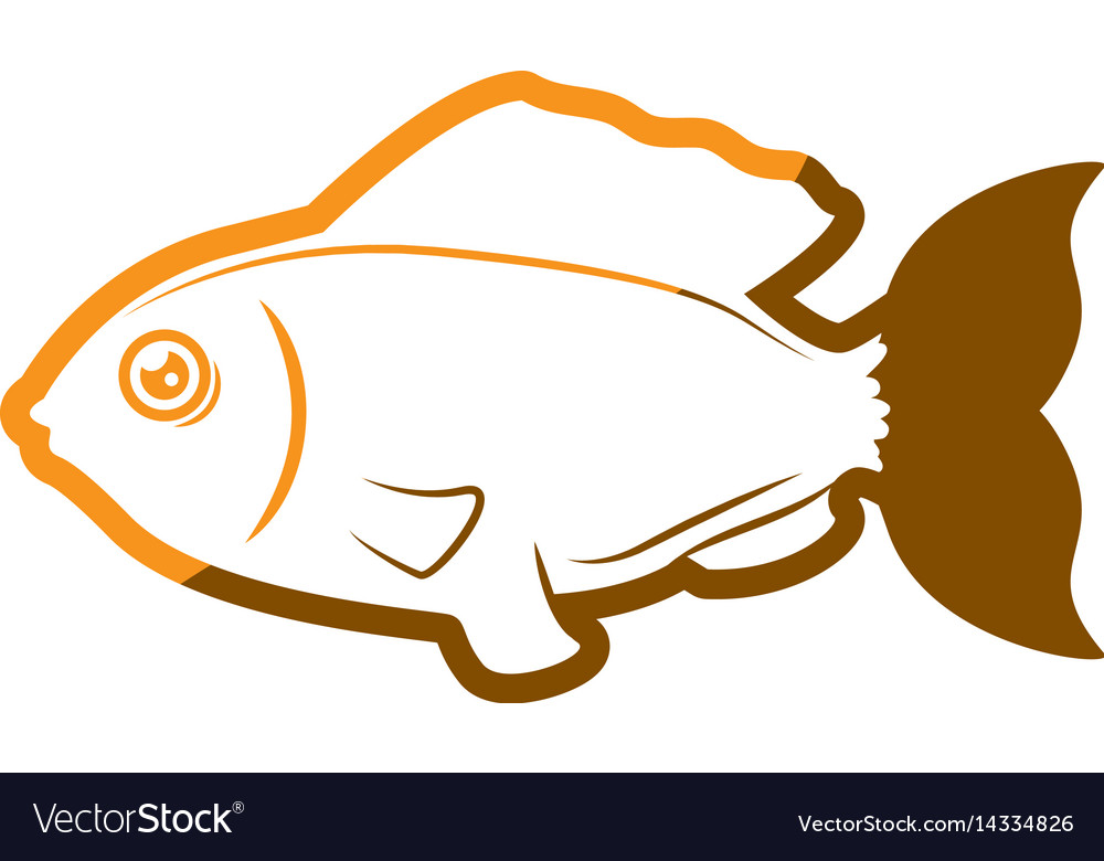 Fish sea yellow symbol